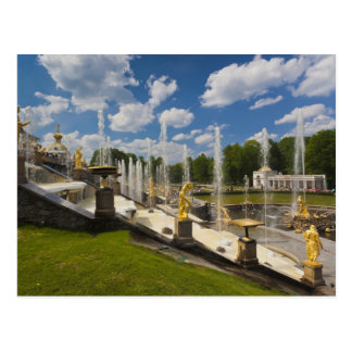 Carte Postale St Petersbourg, fontaines grandes 6 de cascade