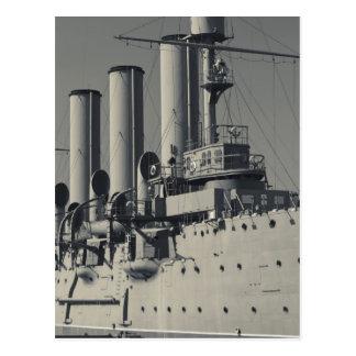 Carte Postale St Petersbourg, l'aurore 2 de croiseur