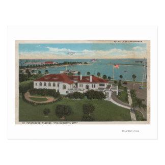 Carte Postale St Petersburg, FL - antenne de club de yacht et