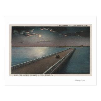 Carte Postale St Petersburg, la Floride - vue de nuit de