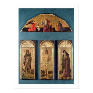 Carte Postale St.Sebastian entre St John le baptiste et St