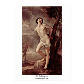 Carte Postale St SebastiAn par Guido Reni