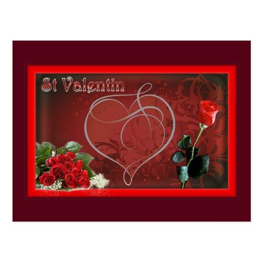 Carte postale st valentin amour