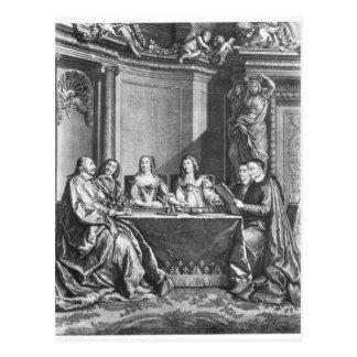 Carte Postale St Vincent de Paul et Jules cardinal Mazarin