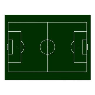 Carte Postale stade de football vert