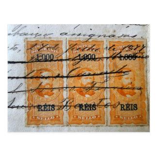 Carte Postale Stamp-themed postcard