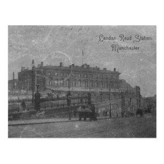 Carte Postale Station de route de Londres, Manchester, c.1910