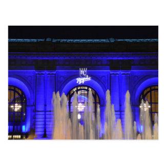 Carte Postale Station des syndicats dans le bleu, Kansas City,