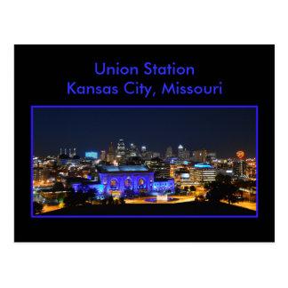 Carte Postale Station des syndicats de Kansas City dans le bleu