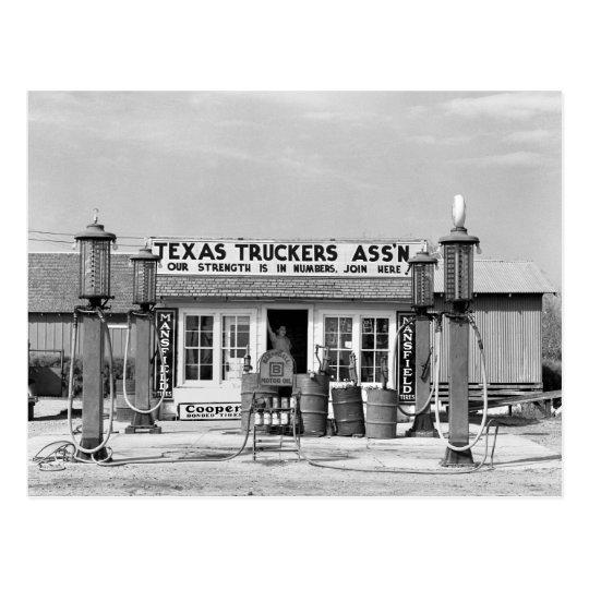 carte postale station service edcouch le texas 1939. Black Bedroom Furniture Sets. Home Design Ideas