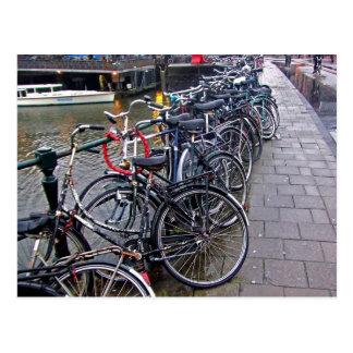 Carte Postale Stationnement de vélo -- Amsterdam en novembre