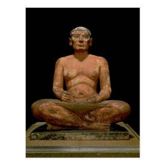 Carte Postale Statue de acroupissement de scribe