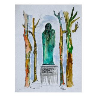 Carte Postale Statue de Balzac par Rodin | Paris, France