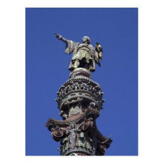 Carte Postale Statue de Columbus, Barcelone