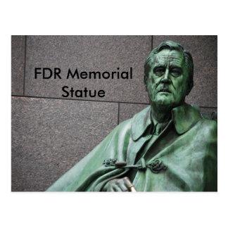 Carte Postale Statue de Franklin Roosevelt au mémorial de FDR
