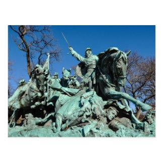 Carte Postale Statue de guerre civile dans le Washington DC