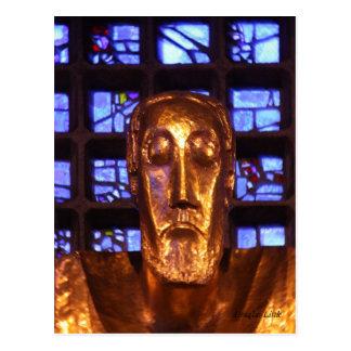 Carte Postale Statue de Jésus, église de mémorial de Kaiser