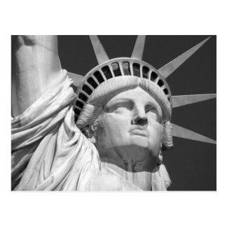 Carte Postale Statue de la liberté noire et blanche