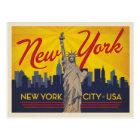 Carte Postale Statue de New York City | de la liberté