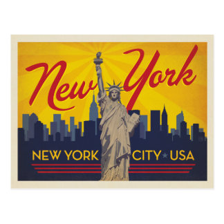 Carte Postale Statue de New York City | de la liberté