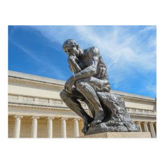 Carte Postale Statue de penseur de Rodin