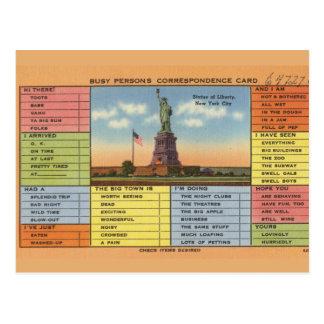 Carte Postale Statue de plaisanterie de liberté