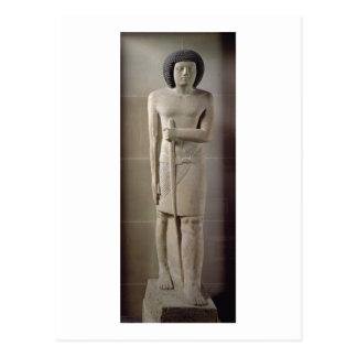 Carte Postale Statue de Sepa, vieux royaume (chaux peinte)