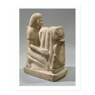 Carte Postale Statue de Setau présentant la déesse Nekhb de