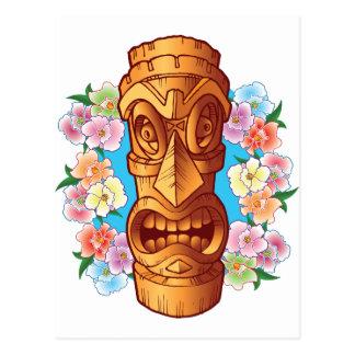 Carte Postale Statue de Tiki de bande dessinée