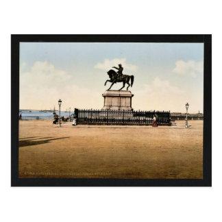 Carte Postale Statue du napoléon I, Cherbourg, France pH