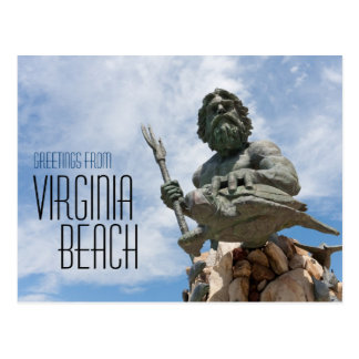 Carte Postale Statue du Roi Neptune Virginia Beach