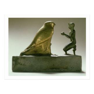 Carte Postale Statue du Roi Taharqa adorant le faucon-dieu