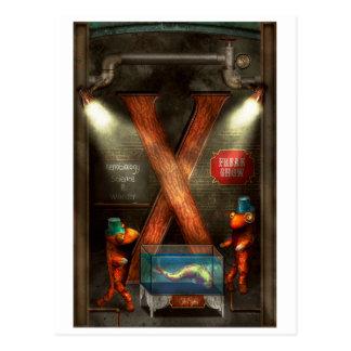 Carte Postale Steampunk - alphabet - X est pour Xenobiology