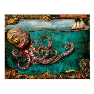 Carte Postale Steampunk - le conte du Kraken
