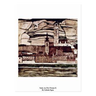 Carte Postale Stein un Der Donau II par Schiele Egon