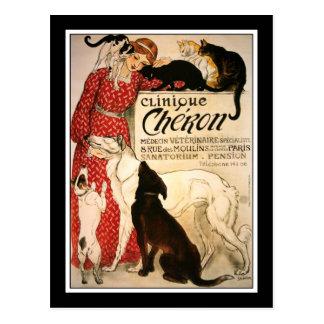 """Carte postale :  Steinlen vintage """"clinique Cheron"""