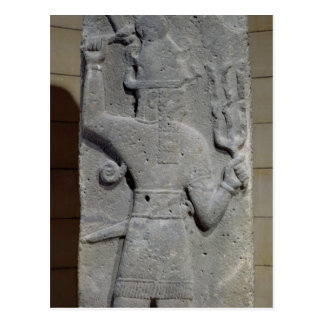 Carte Postale Stela de Teshub, un dieu syrien de tempête