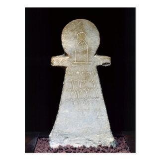 Carte Postale Stele votif, dépeignant probablement Tanit