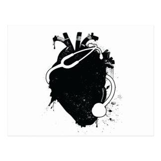 Carte Postale stéthoscope anatomique de coeur