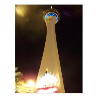 Carte Postale Stratosphère la nuit - Las Vegas