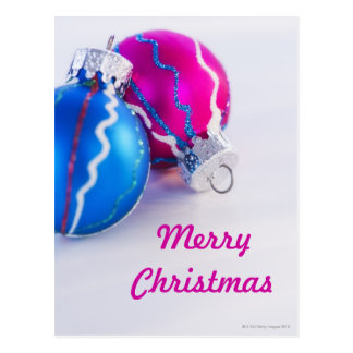 Carte Postale Studio tiré des babioles de Noël