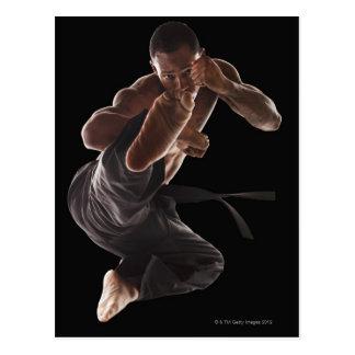 Carte Postale Studio tiré du praticien d'arts martiaux dedans
