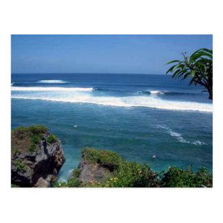 Carte postale stupéfiante de plage de Bali