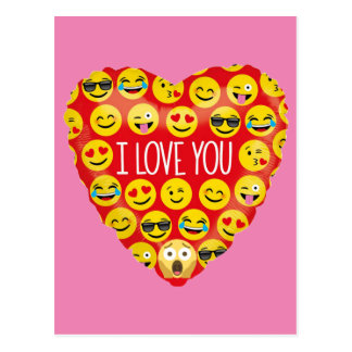 Carte Postale Stupéfier je t'aime le cadeau d'Emoji