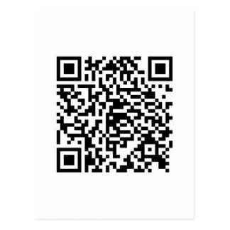 Carte Postale Style de drogué de code de QR