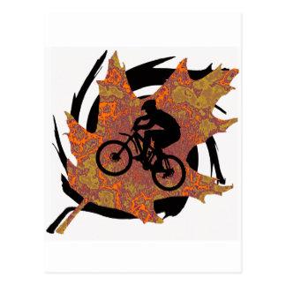 Carte Postale Style de fumée de vélo