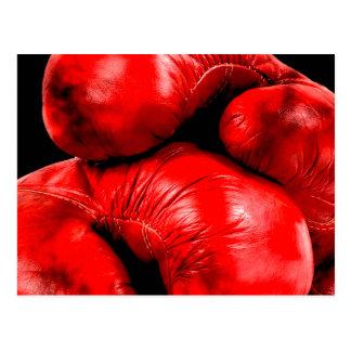 Carte Postale Style de grunge de boxeur de gants de boxe