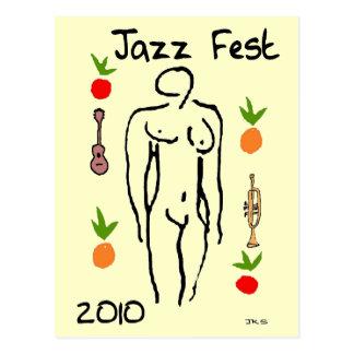 Carte Postale Style de Matisse de Fest de jazz