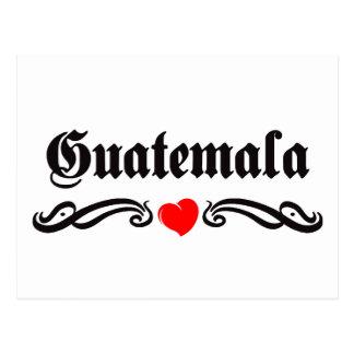 Carte Postale Style de tatouage de la Guadeloupe