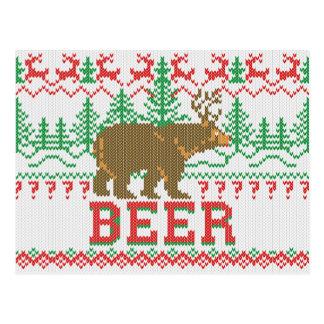 Carte Postale Style puissant de Knit de pullover de Noël de